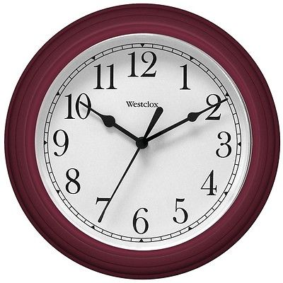 WESTCLOX 46983 9 Decorative Wall Clock (Red)