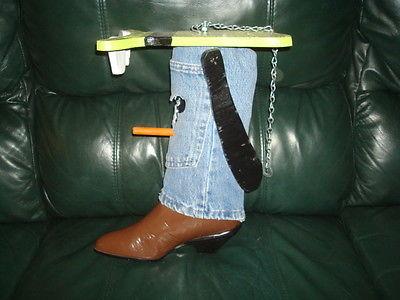 Handmade Disney's Goofy Cowboy Boot Birdhouse