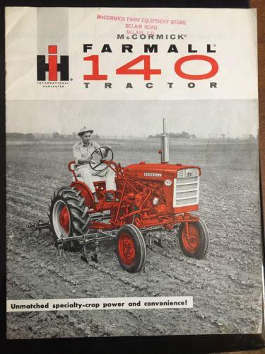 VINTAGE IH McCORMICK FARMALL 140 TRACTOR SALES BROCHURE 15 pgs MANUAL