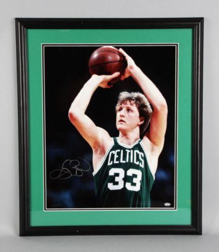 Larry Bird Signed Boston Celtics 16×20 Photo – COA