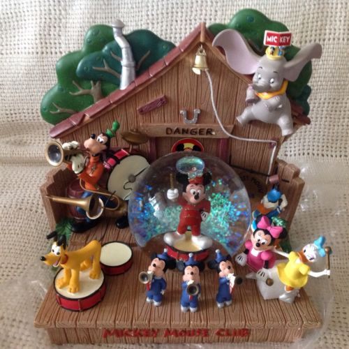 Disney MICKEY MOUSE CLUBHOUSE Figurine Musical Snowglobe-MIB