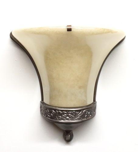 (16) VTG Gill Glass Co. Cast ALUMINUM WALL SCONCES Lamp Deco Flower 40s Trumpet