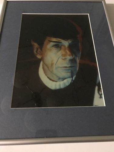 Star Trek Leonard Nimoy Signed Print