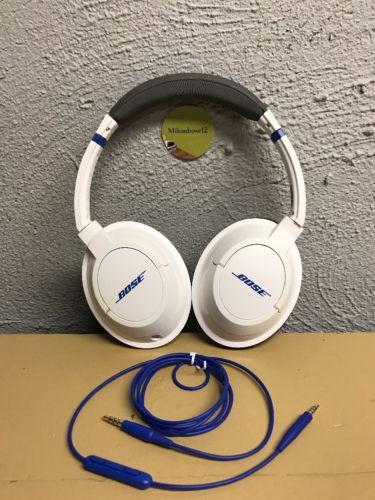 Bose-SoundTrue-Headphones (White/Blue) iPhone Or iPod Controls