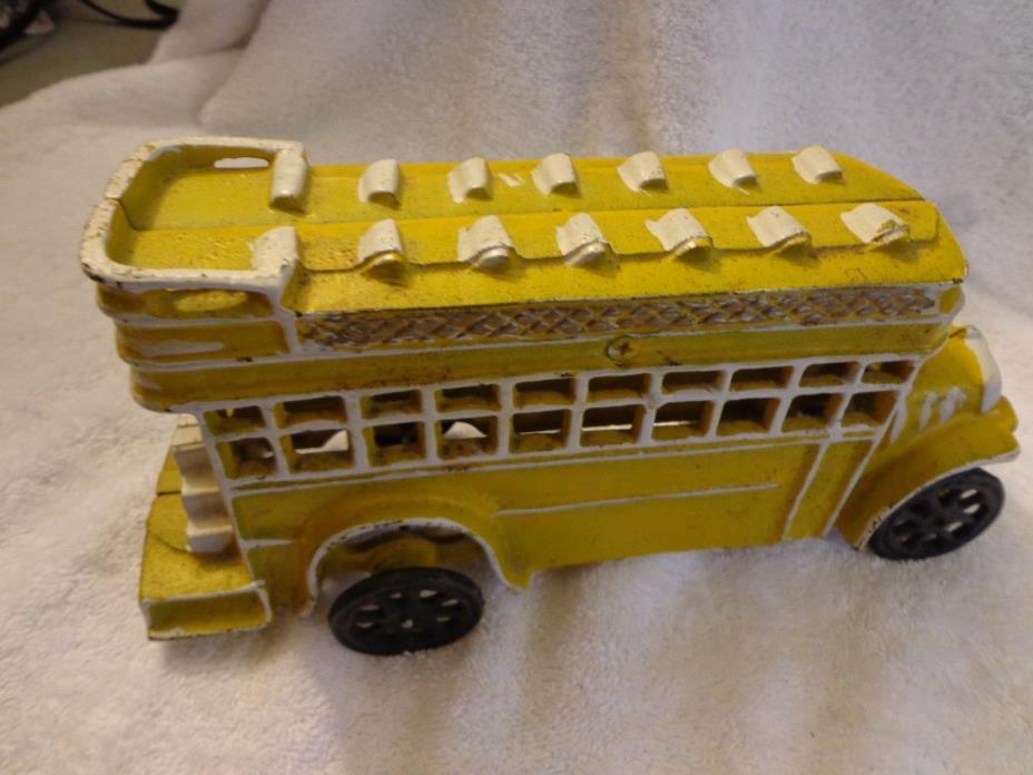 Big Yellow Bus Cast Iron 10.5