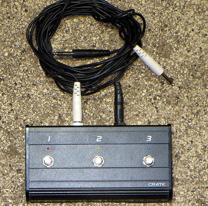 CRATE 3-BUTTON BLACK METAL FOOT SWITCH FOR GUITAR AMP