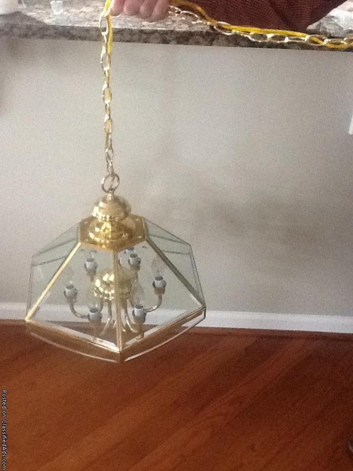 Chandelier clear beveled glass