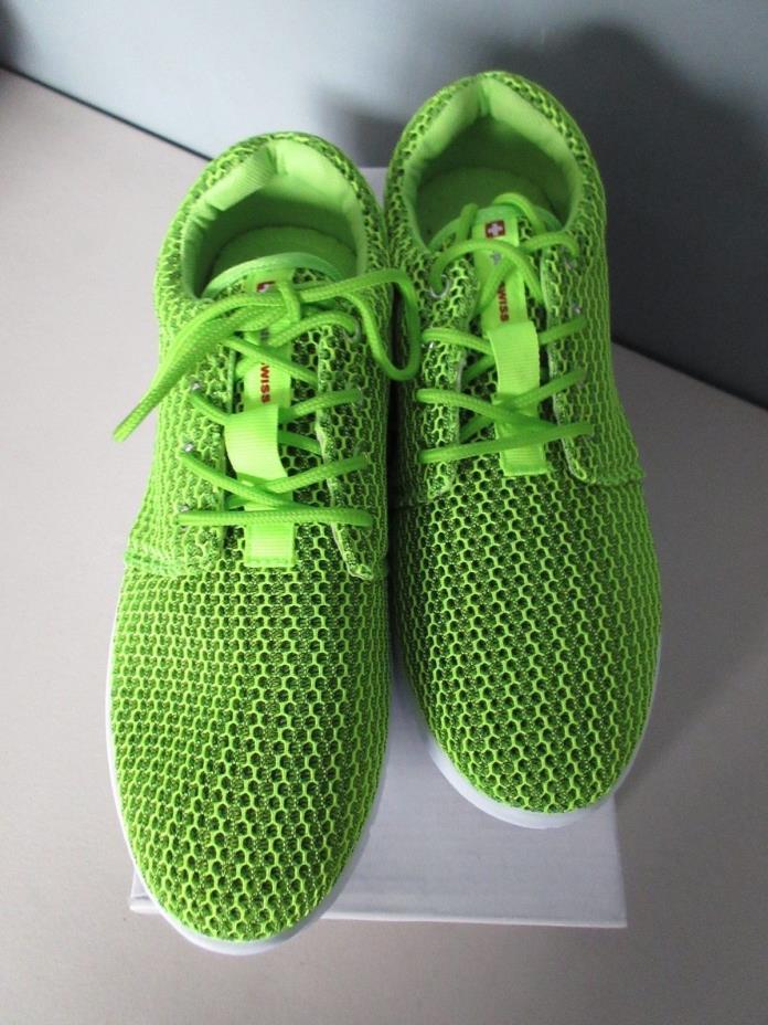 NEW Alpine Swiss Kilian Knit Mesh Llime Green Sneakers Shoes Mens 9 Womens 7
