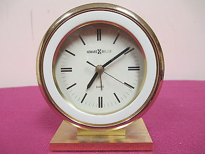 Howard Miller DESK/ MANTLE CLOCK - quartz -works
