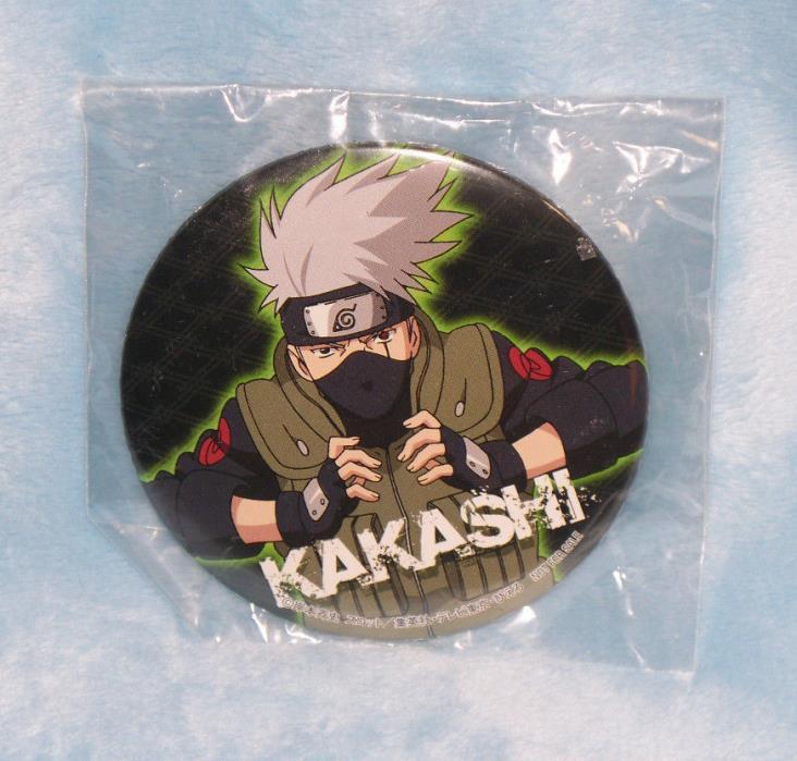 Kakashi Hitake can badge promo item Naruto ninja pin pinback