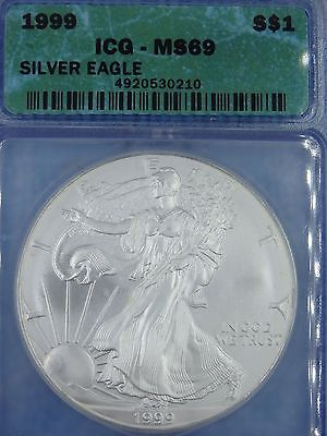 1999 MS69 ICG       Silver Eagle       Dollar    SILVER