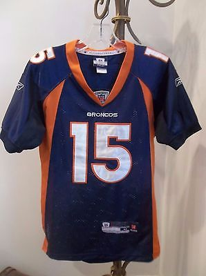 TIM TEBOW #15 DENVER BRONCOS REEBOK AUTHENTIC SEWN NFL FOOTBALL JERSEY YOUTH M