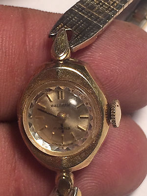 Vintage Ladies Waltham 17 Jewel Analog Watch-For Parts Or Repair
