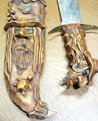 Rare Bowie Knife Hand Crafted Design from Costa Rica made for Falconer Falconry?