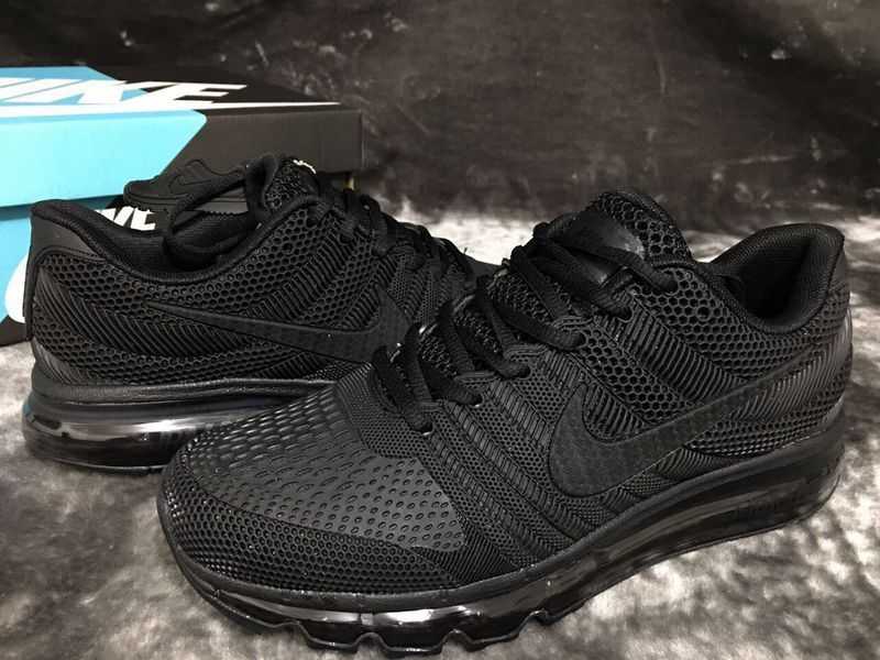 NIKE AIR MAX 2017 Men's Running Trainers Shoes(black)