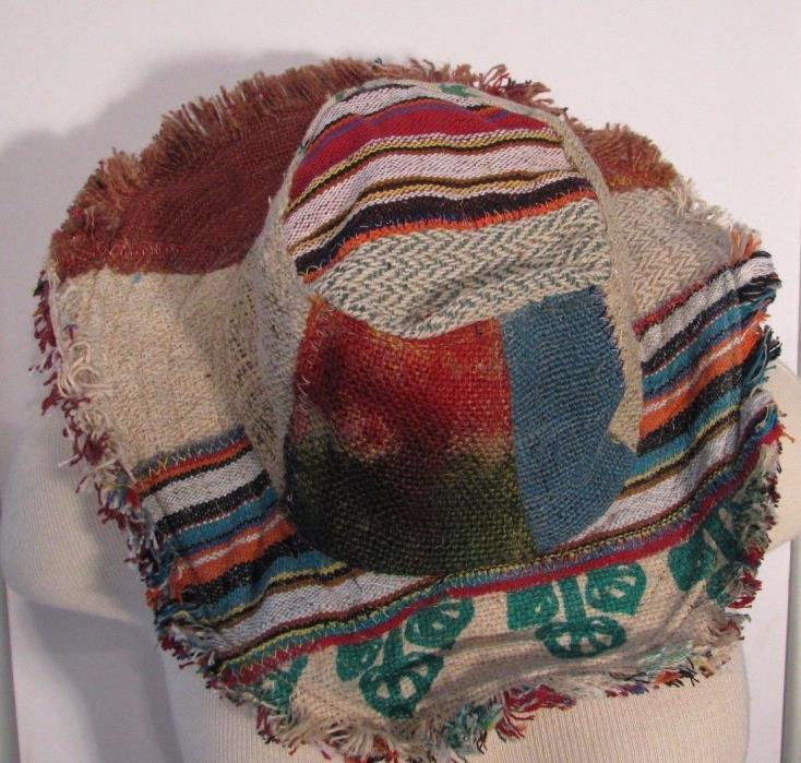 NEW Hippie Fav HAT #21 Recycled PATCHWORK Mojo Time Womens Mens Ful Sz Woodstock