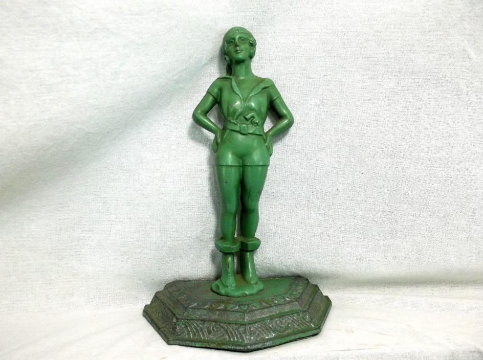 Antique Pewter statue