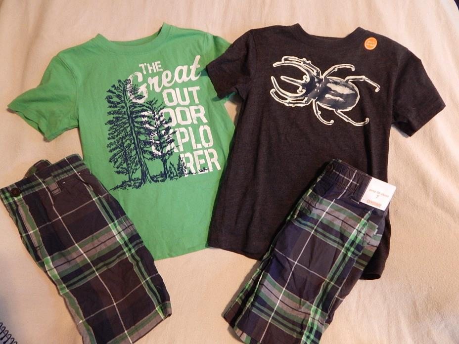 NWT 7 GYMBOREE BACKYARD EXPLORER TOP & SHORTS