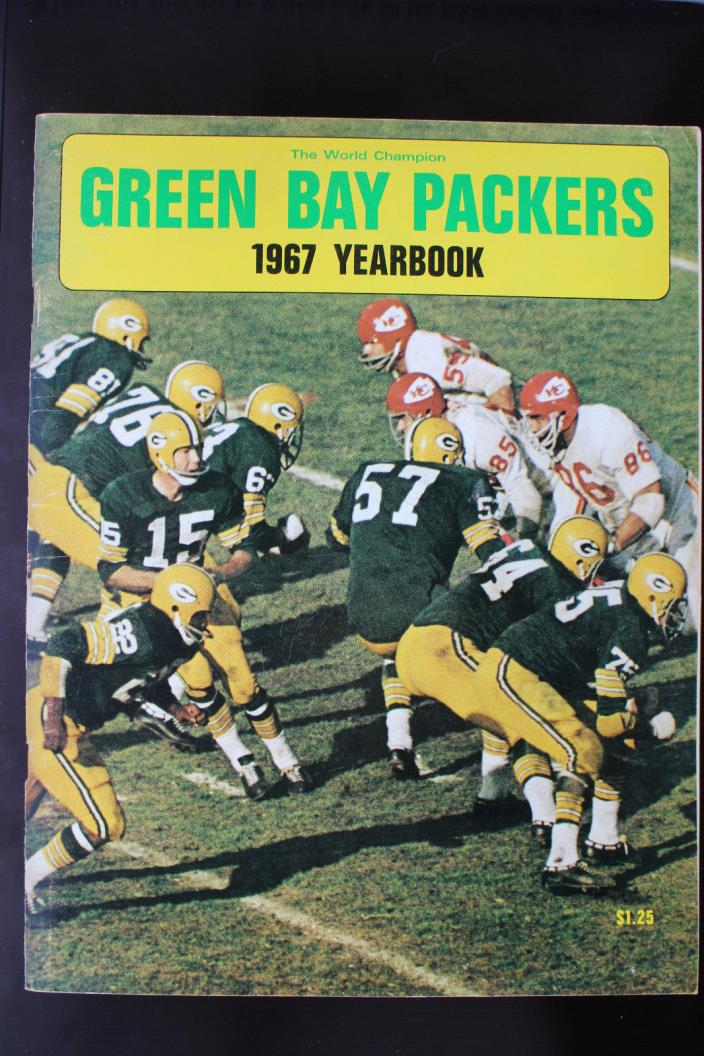1967 Green Bay Packers Yearbook EX condition