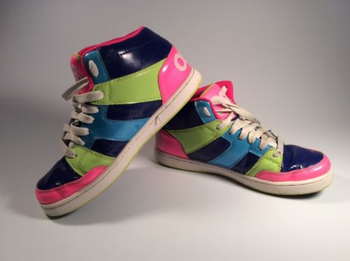 Vintage 1990's OSIRIS (Women's Size 10) Multi Colored, Neon, Sneakers, Shoes,