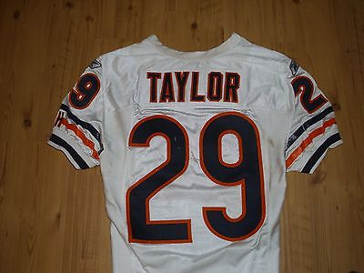 Chester Taylor Chicago Bears Game Used Worn Jersey Coa