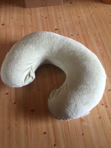BOPPY Nursing Pillow With Pottery Barn Kids Green Chamois Cover Breastfeeding