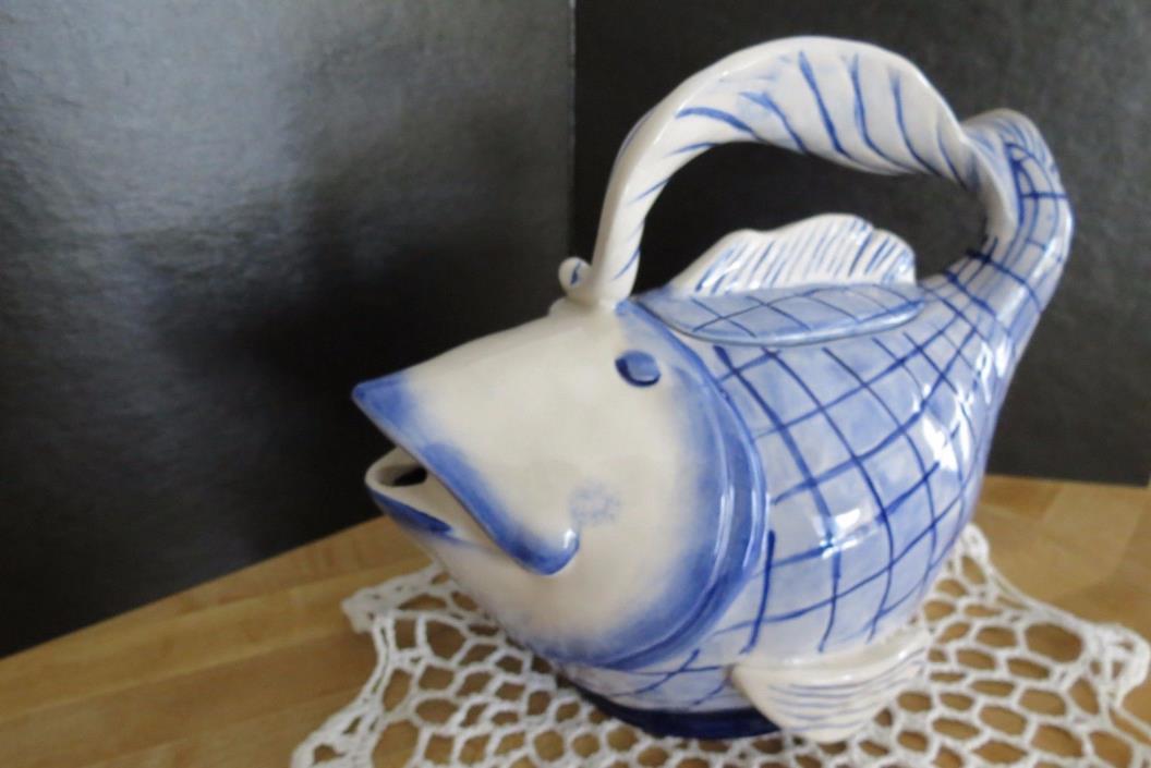 Blue Sky Ceramics Magic Sea Fish Teapot