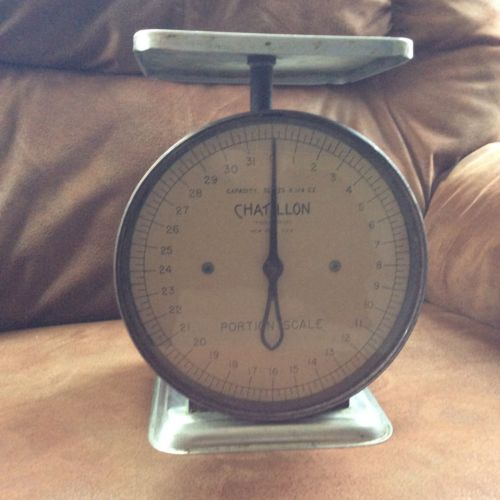 Vintage Chatillon Household Scale Gray 32 Ozs. X 1/4 Oz.