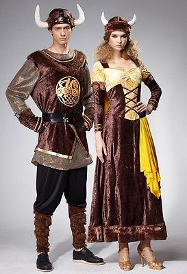 HGM COSTUMES NORDIC VIKING COUPLE / Complete Outfit