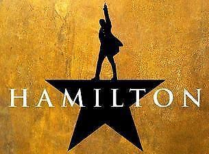 HAMILTON  NEW YORK - 4 ORCHESTRA TICKETS -AISLE SEAT -ALL TOGETHER