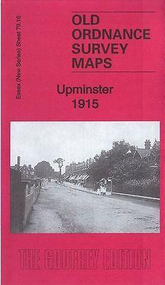 DETAILED ORDNANCE SURVEY MAP, UPMINSTER NEAR HORNCHURCH & ROMFORD 1915