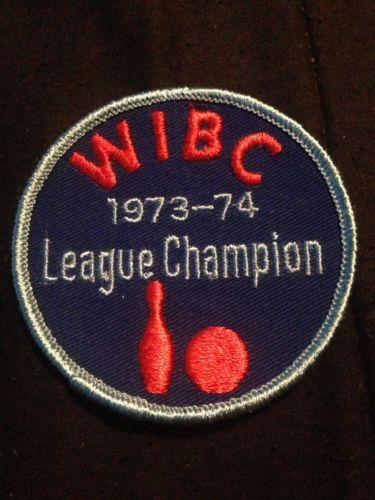 1973-74 WIBC League Champion Vintage Bowling Patch