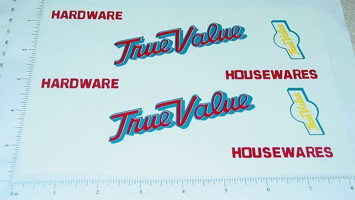 Tonka True Value Hardware Box Van Sticker Set    TK-084