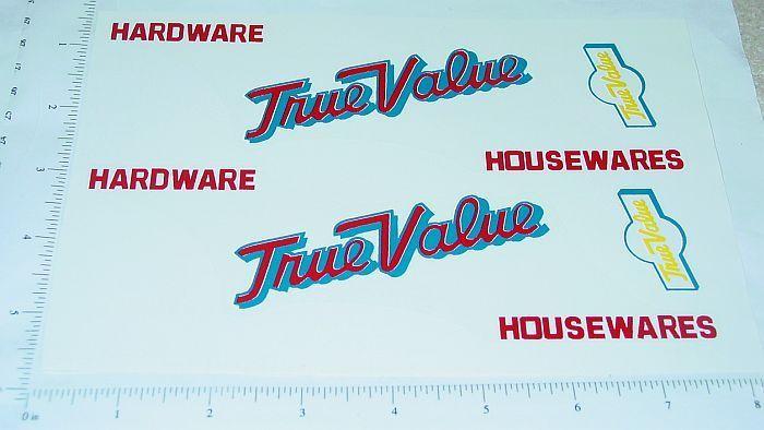 Tonka True Value Hardware Box Van Sticker Set    TK-084