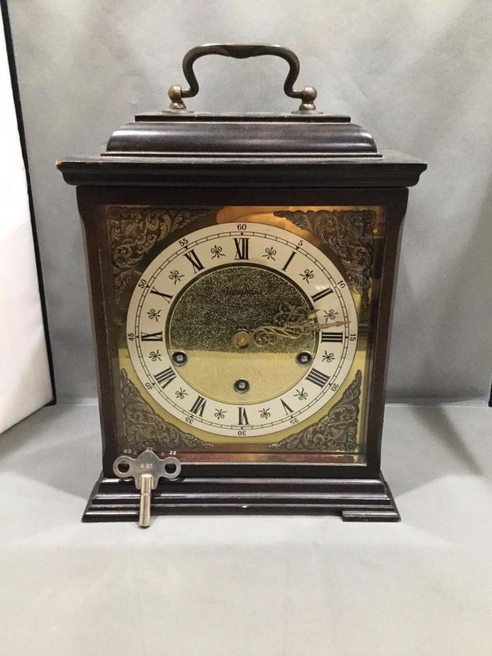 Antique Junghans Mantle Clock from Germany w/ Chimes & Key