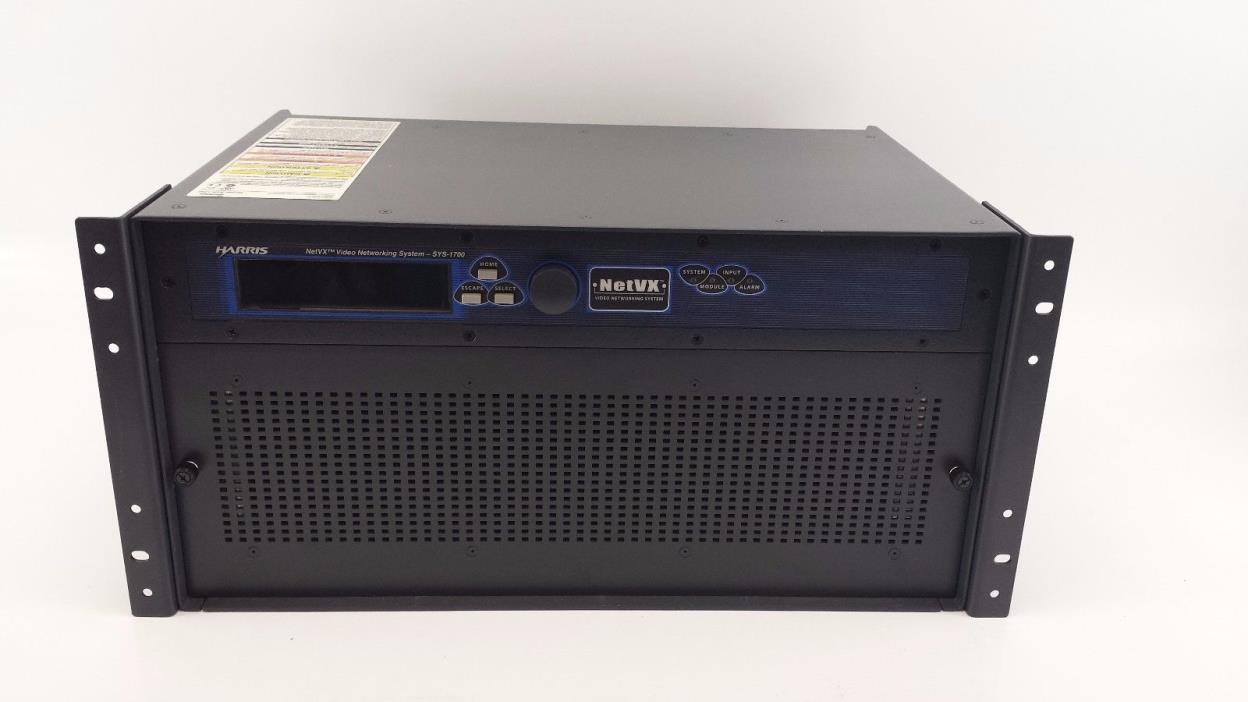 Harris SYS-1700 NetVX Video Networking System w/ ENC-H11 TMX-M12 Modules