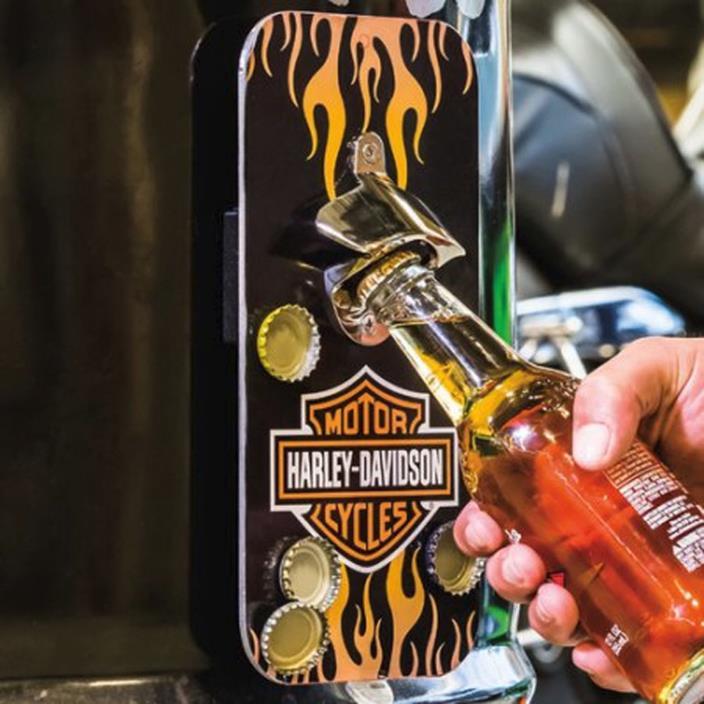 Harley-Davidson Flame Bar & Shield Magnetic Bottle Opener D4901