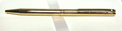 SHEAFFER - AGIO Ballpoint Pen - GOLD PLATED, FLUTED - New Old Stock, USA Made