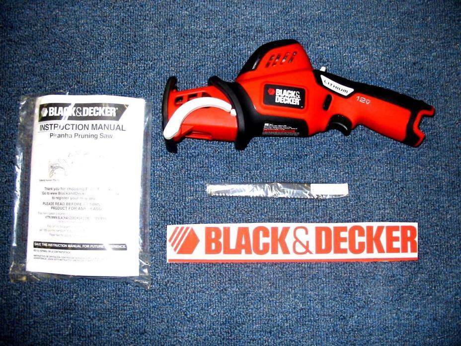 NEW Black & Decker PSL12 12 v volt Lithium ion Reciprocating Saw NO BATTERY