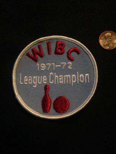 1971-72 WIBC League Champion Vintage Bowling Patch