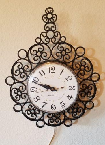 GE Wall Clock Kitchen Vintage Old Mid Century