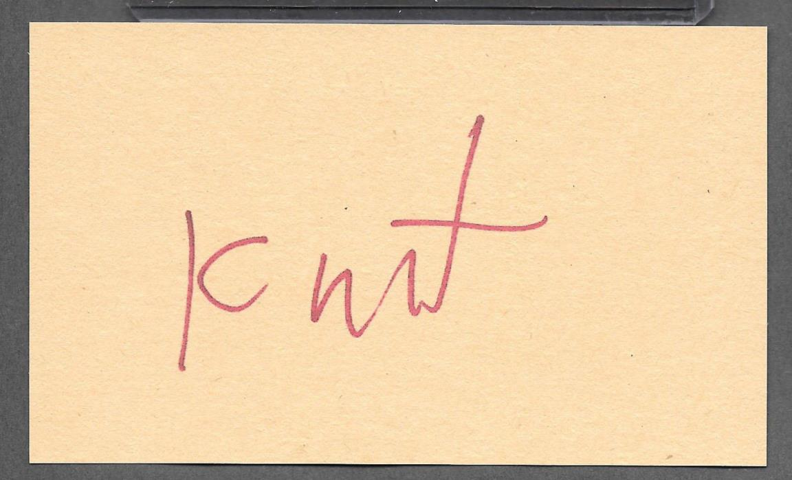 Kurt Cobain Nirvana Autograph Reprint Appears Authentic On Old 3x5 card