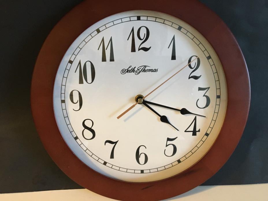 Seth Thomas Wall Clock battery operated