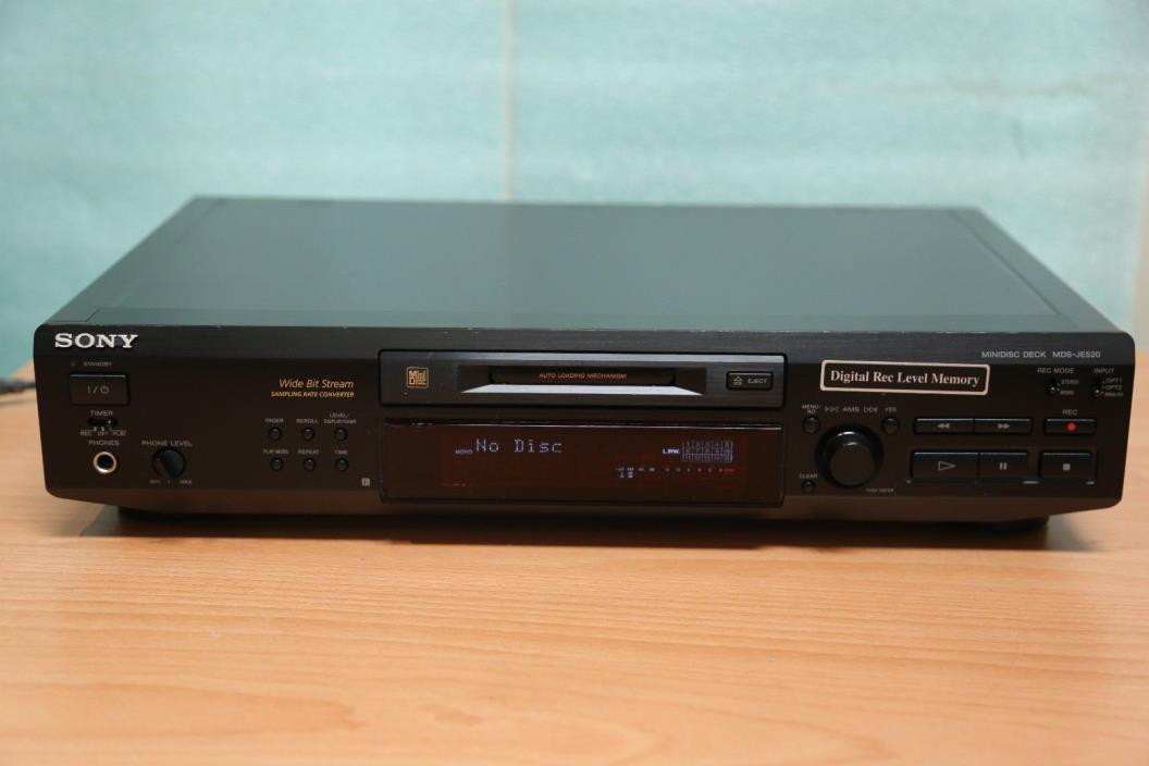 Sony MDS-JE520 MiniDisc Deck Recorder Player Mini Disc Stereo Rack System MD VGC