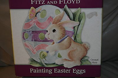 Fitz & Floyd Painting Easter Eggs Canape Plate Wall Hanging