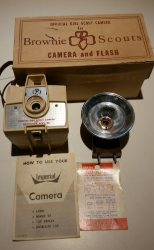 Vintage 1964 'Brownie Scout' Official Girl Scout Camera