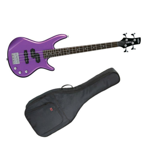 Ibanez GSRM20MPL GSR Series Electric Bass Guitar- Purple with Guitar Bag