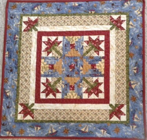 Summer Wall Hanging Machine Quilted, 25