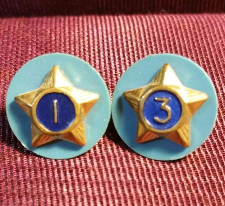 VINTAGE CUB SCOUT Webelos UNIT # 1 & #3  PINS BACKS BSA Boy Scout Lapel Hat Pin