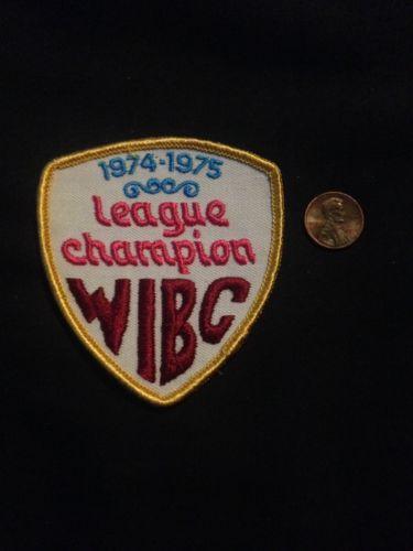 1974-1975 League Champion WIBC Vintage Bowling Patch